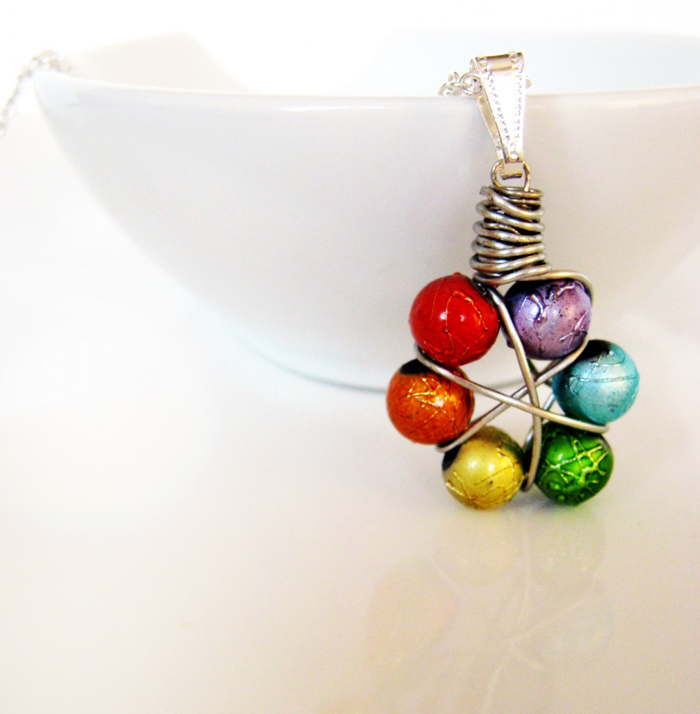 how to make a wire wrapped pendant diy tutorial