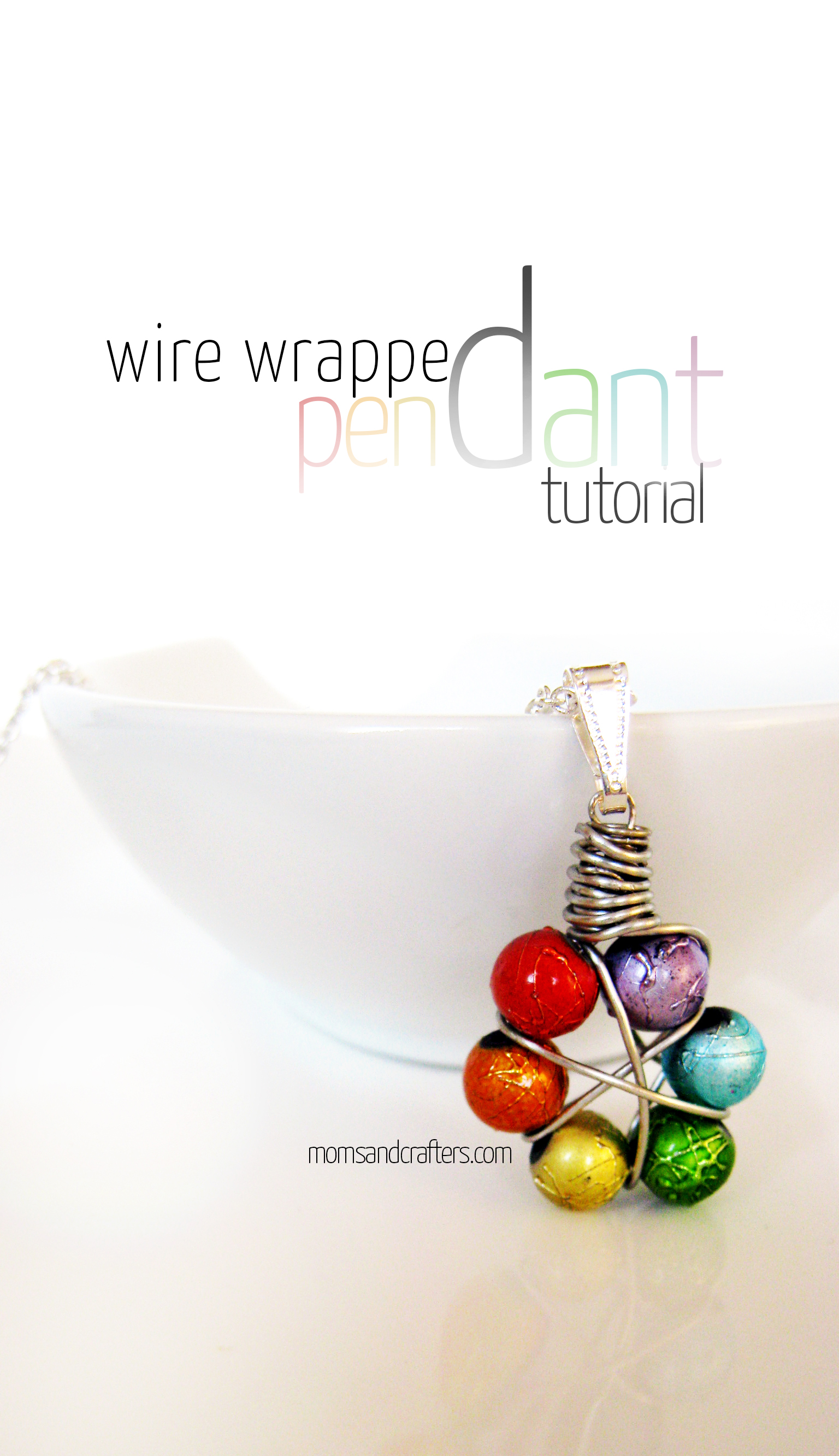 How to Make a Wire Wrapped Pendant - full DIY Tutorial