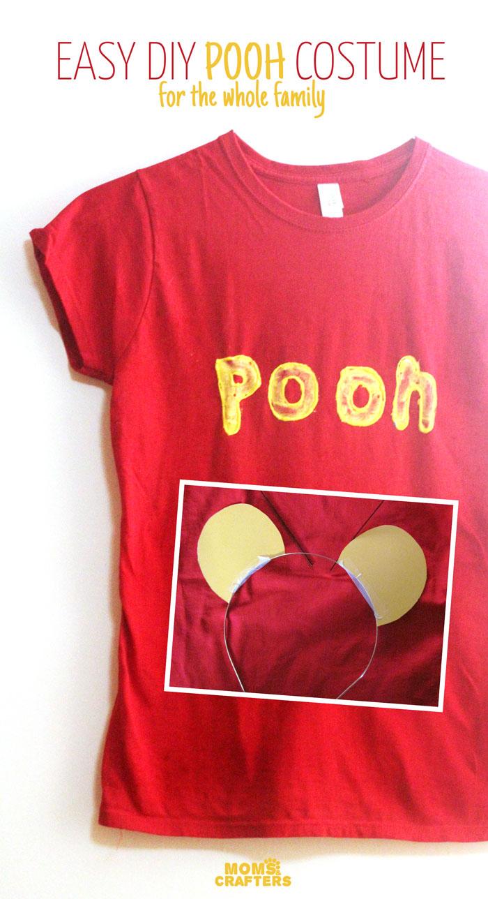diy winnie the pooh costume no sew. Black Bedroom Furniture Sets. Home Design Ideas