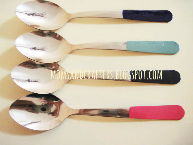 DIY enameled spoons