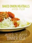 baked onion meatballs recipe