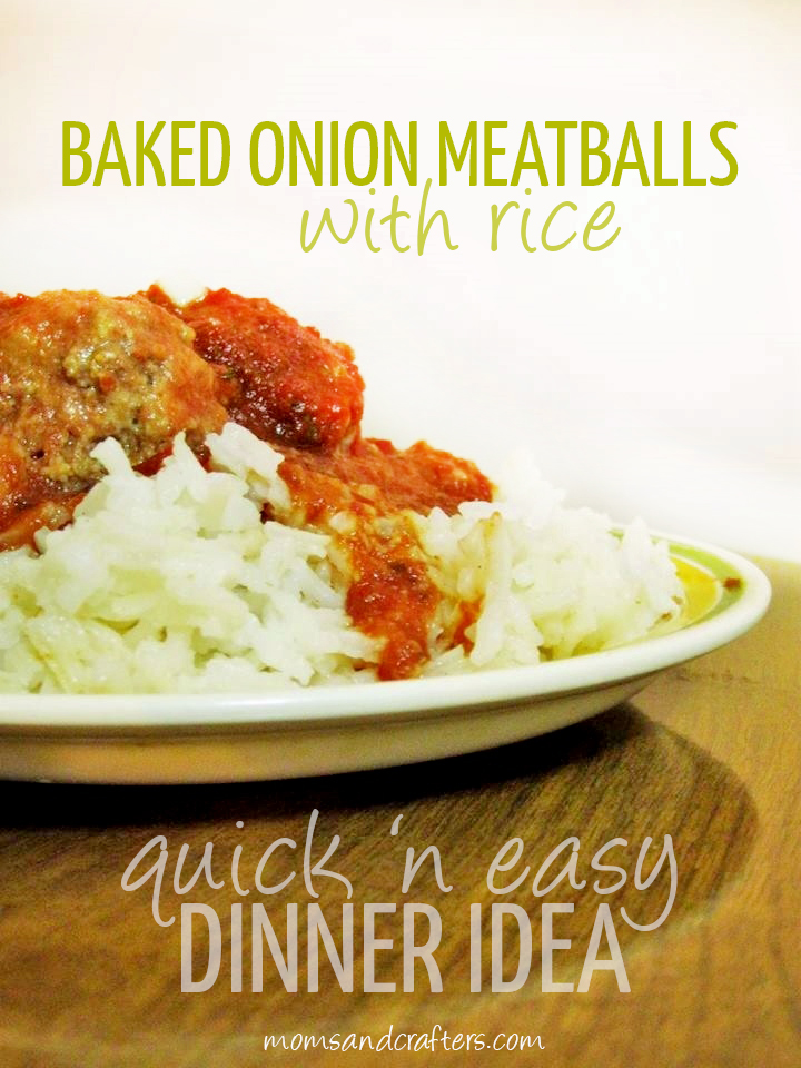 Baked Onion Meatballs with Rice recipe
