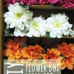 DIY Flower Shadow Box Wall Art