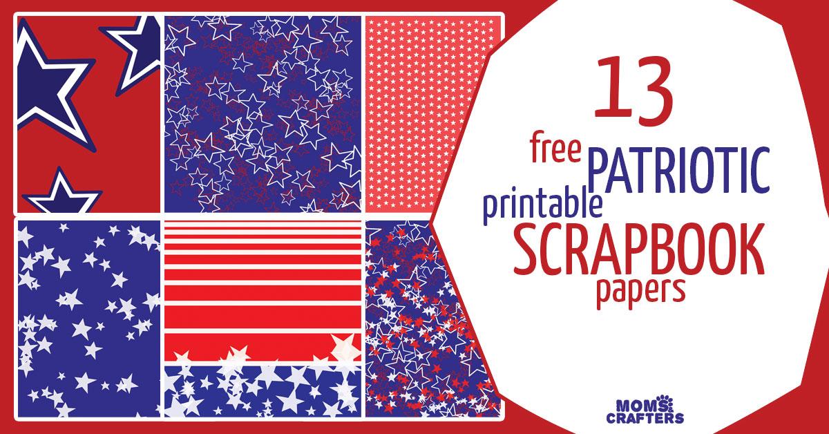 Free Printable Patriotic Scrapbook Paper