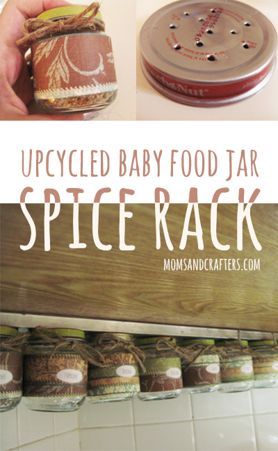 upcycle baby food jars