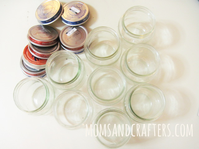 upcycle baby food jars