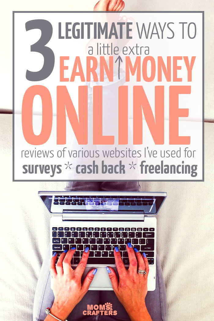 If you're a stay at home mom an want to earn a little extra cash in your spare time, you'll need this list! It includes three ways to earn money online (all totally legitimate) plus time-saving tips pointing you to your best options!