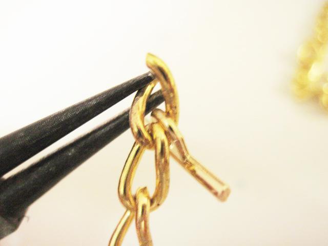 DIY Leather Chain Bracelet