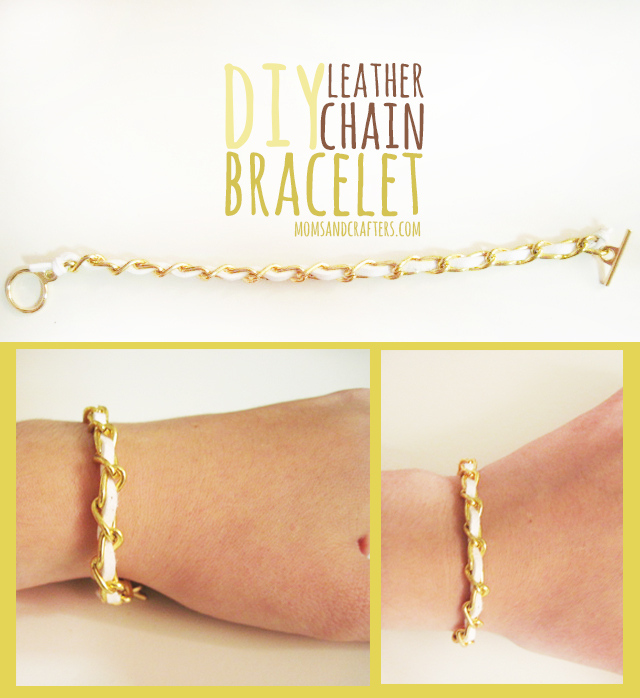 DIY Leather Chain Bracelet