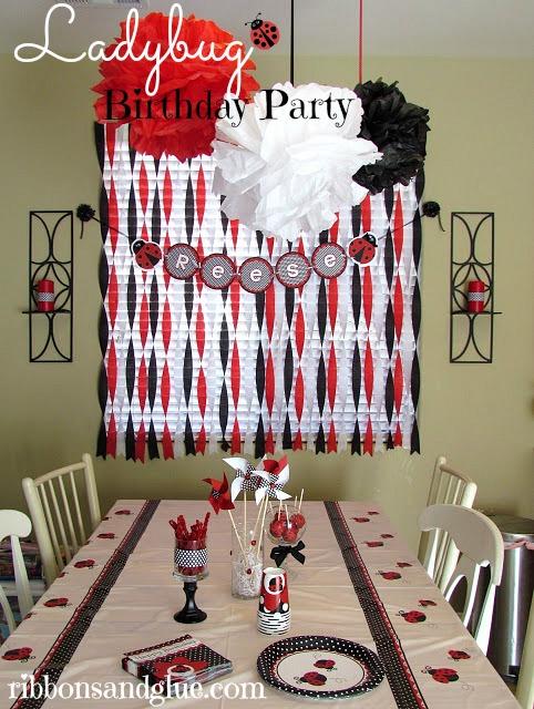 1st birthday themes - ladybug