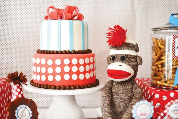 1st birthday themes - rustic sock monkeys