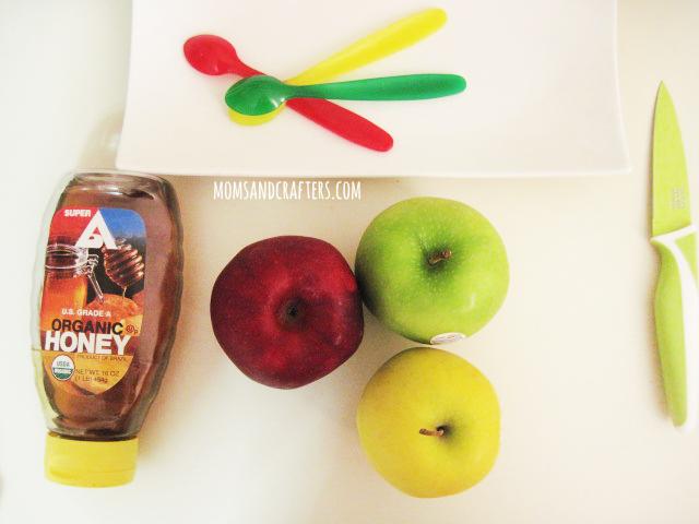 how to make a DIY apple honey dish