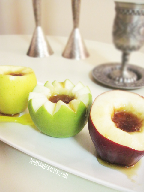 how to make a DIY apple honey dish