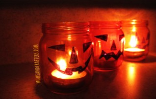 DIY Jack O Lantern Tea Light Holders