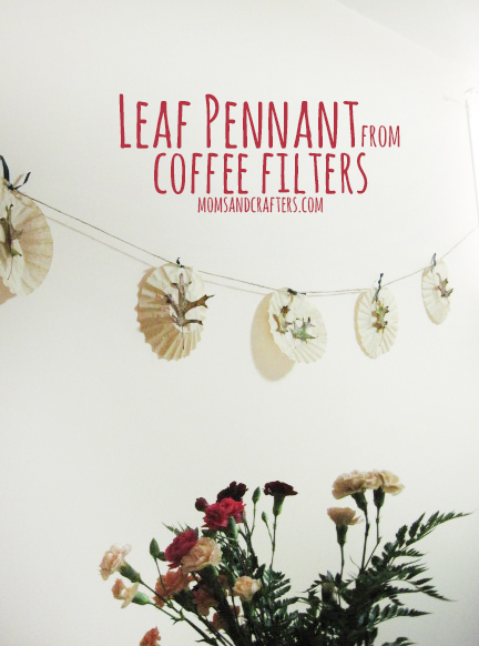 leaf pennant from coffee filters