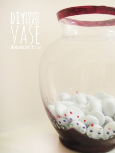 DIY Painted Glass Vase