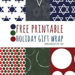 Printable Holiday Gift Wrap