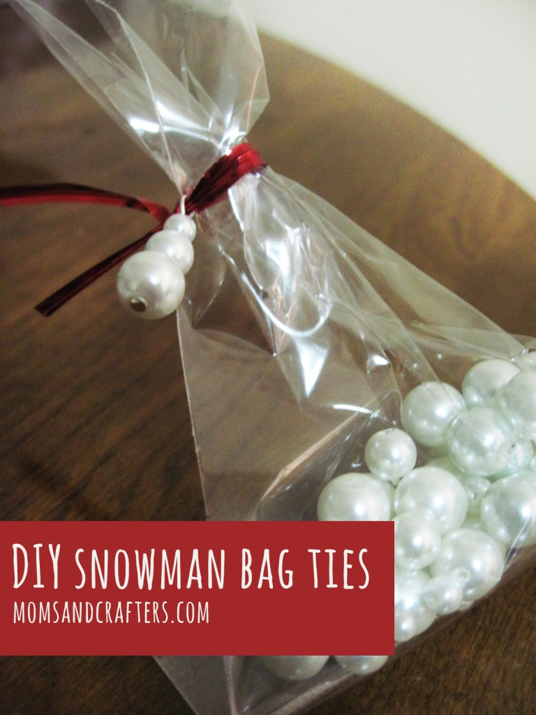 diy snowman favor bag ties