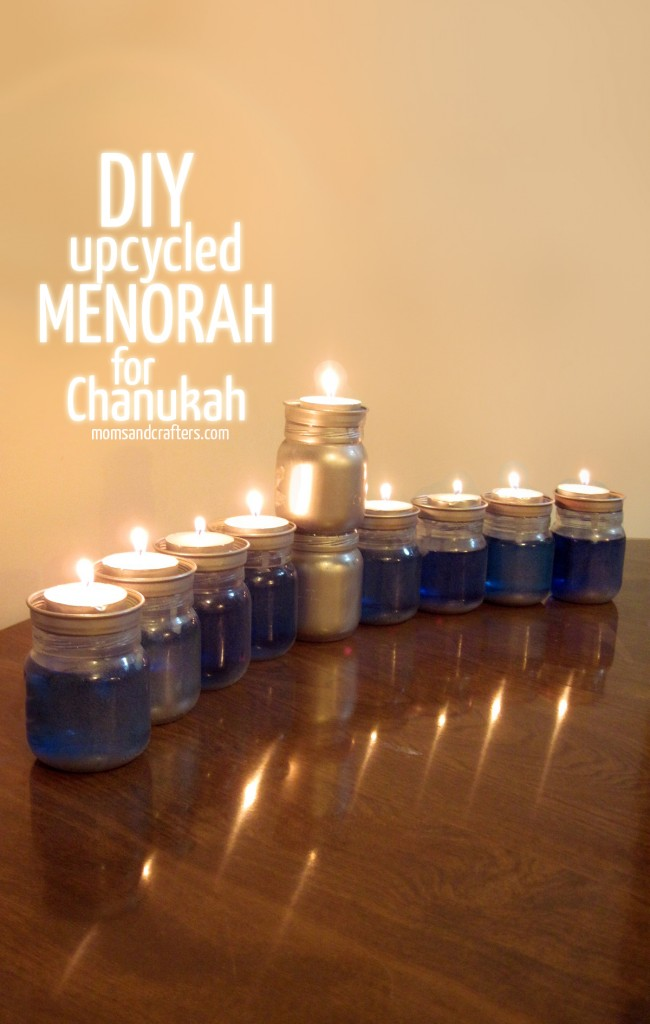 DIY Upcycled Chanukah Menorah (for hanukkah)