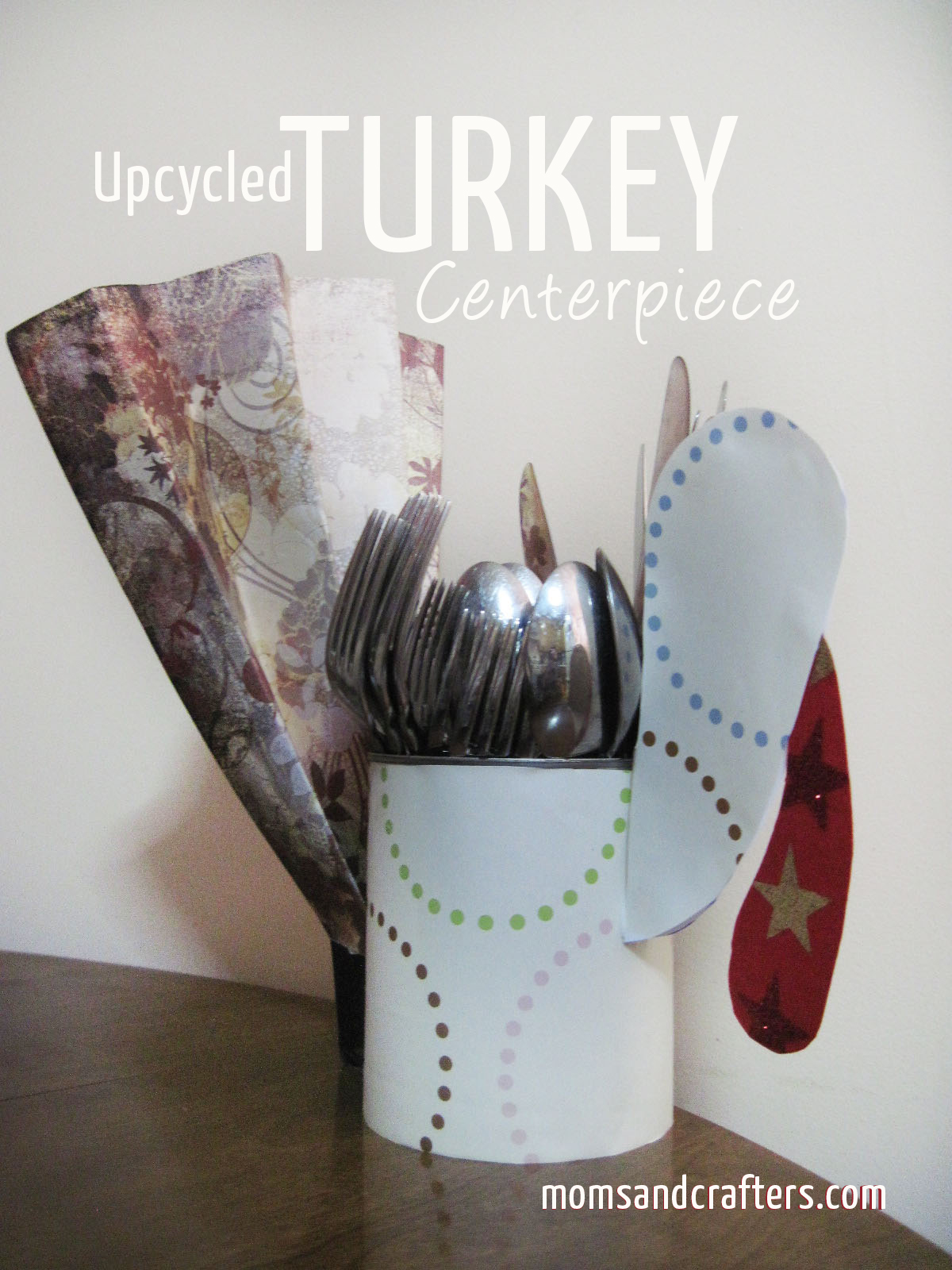 DIY Turkey Centerpiece Craft for Thanksgiving