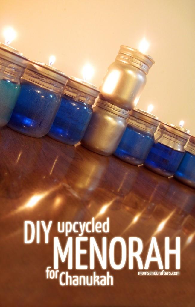 DIY Upcycled Chanukah Menorah (for hanukkah)