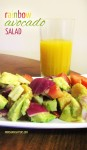 This yummy rainbow avocado salad recipe combines some of my favorite ingredients in an aesthetic and healthy blend!