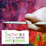 These 5 activities to keep seated child busy will allow your preschooler to remain happy and engaged while you prepare dinner, work, or do whatever it is you need to do!