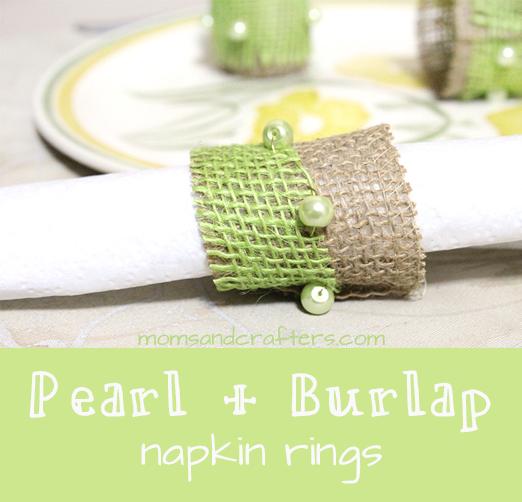 burlap napkin rings