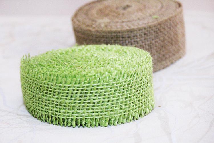 Burlap napkin rings supplies 1