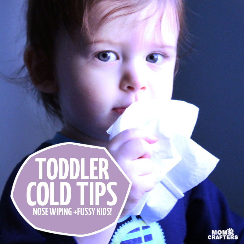 Nah, you're not the only mother who struggles with how to wipe your toddlers nose. If you have a fussy toddler with a cold, you'll enjoy these tips for dealing with sick toddlers.