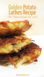You don't need to celebrate Hanukkah - or Chanukah - to love this yummy golden potato latkes recipe! Makes enough for a crowd - or turn the rest of the batch into kugel.