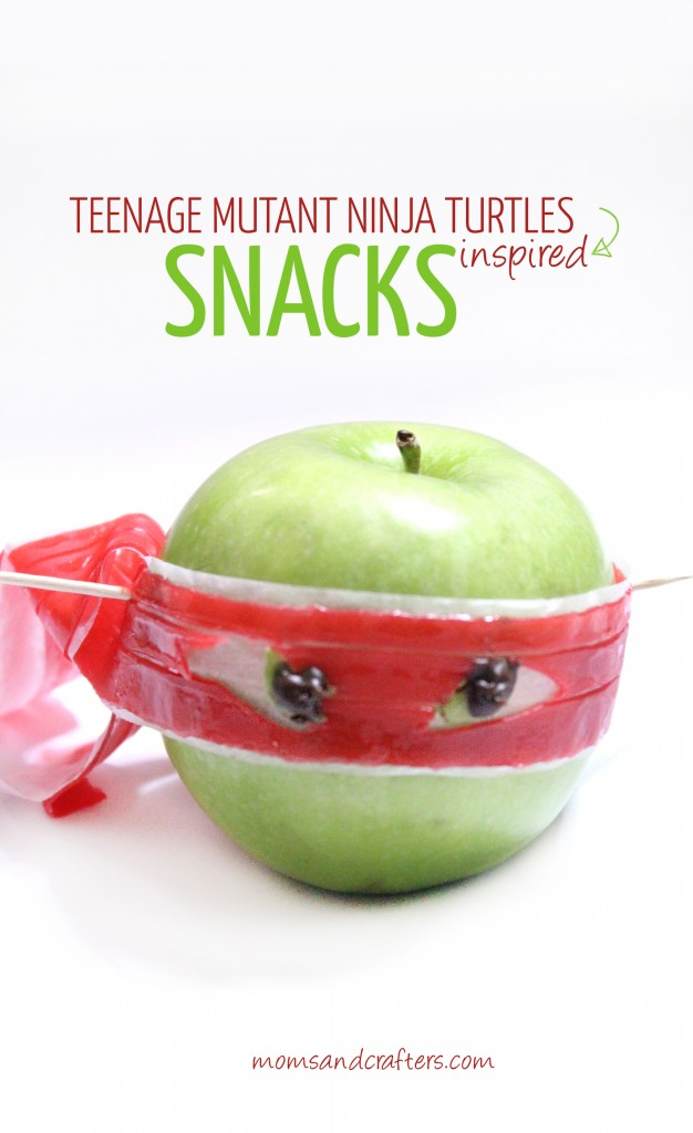 Make these adorable Teenage Mutant Ninja Turtles snacks using ony 3 ingredients, a knife, and some toothpicks! Anyone can do this, and it will delight your little (or not so little) TMNT fan