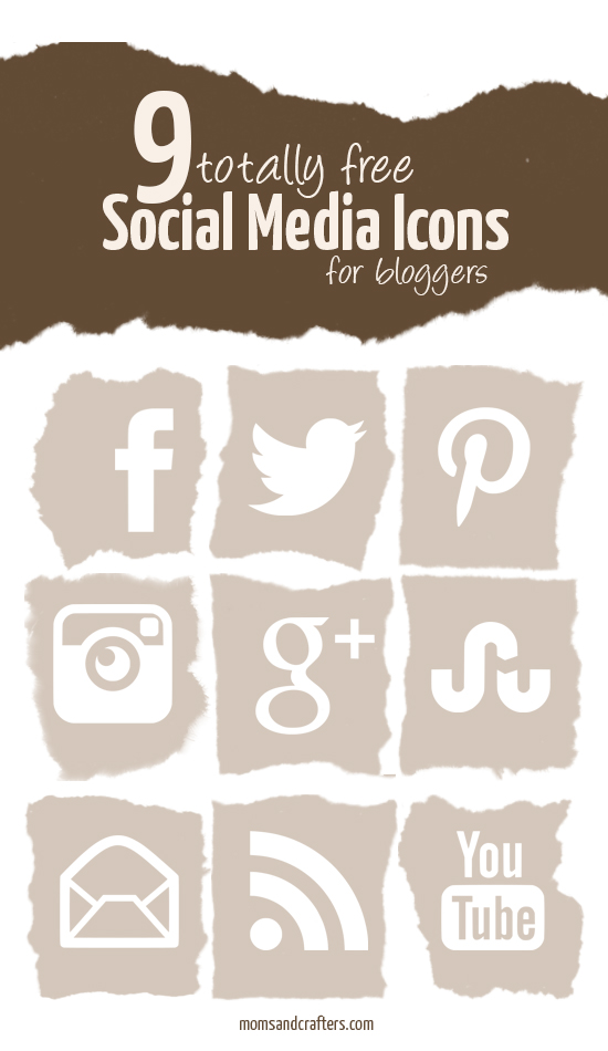 Free Social Media Icons for Bloggers - this amazing set is a neutral color that CAN be customized by adjusting hue, saturation, and lightness in any free photo editing program! an amazing blogging resource.