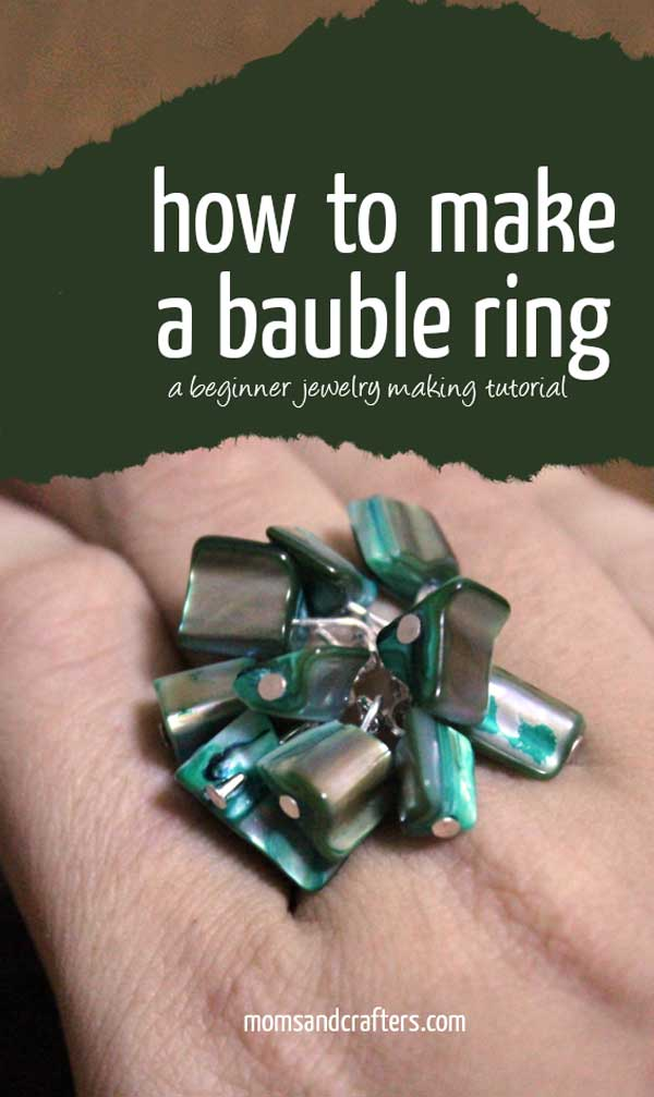 Learn how to make a bauble ring in this beautiful DIY jewelry making tutorial!