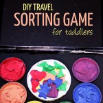 DIY Travel Sorting Game for Toddlers