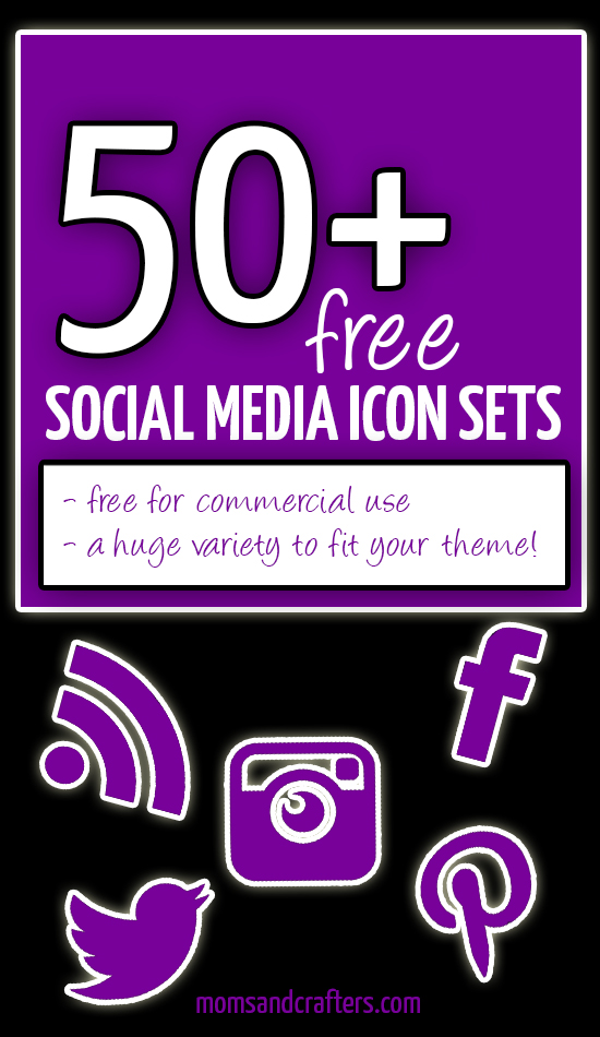 Check out this MASSIVE variety of free social media buttons and icons for your blog! You'll definitely find at least one set that will look cool and fit right in, and they're all totally free for commercial use! Click to see more, and repin to share with other bloggers and spread the love!