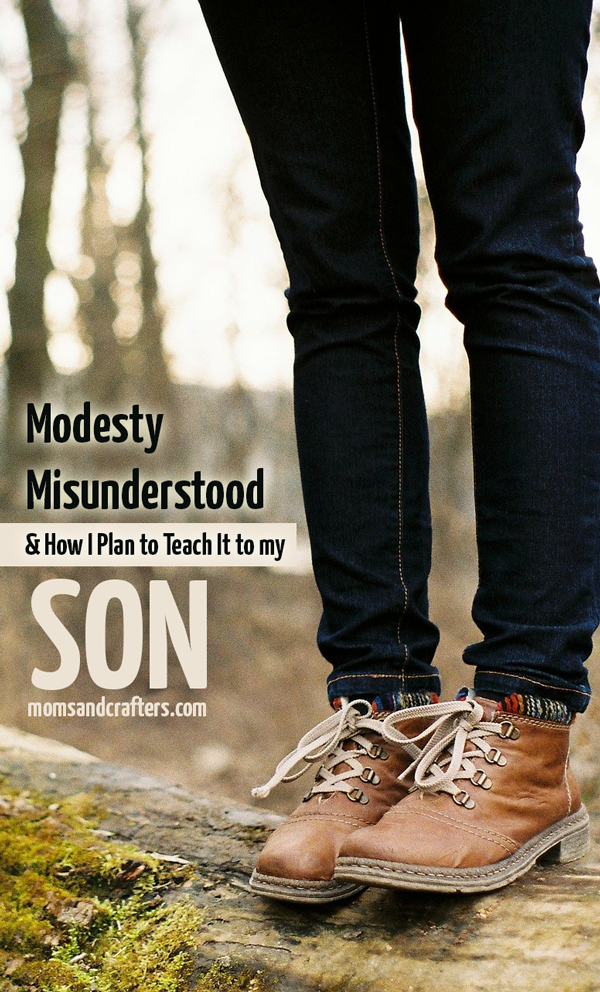 I believe that modesty is a misunderstood subject. It's not about men and lust. It's about self-worth. REad how I plan to teach modesty to my son here.
