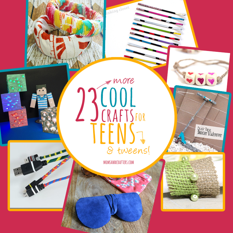 23 more cool crafts for teens moms and crafters for Boys arts and crafts