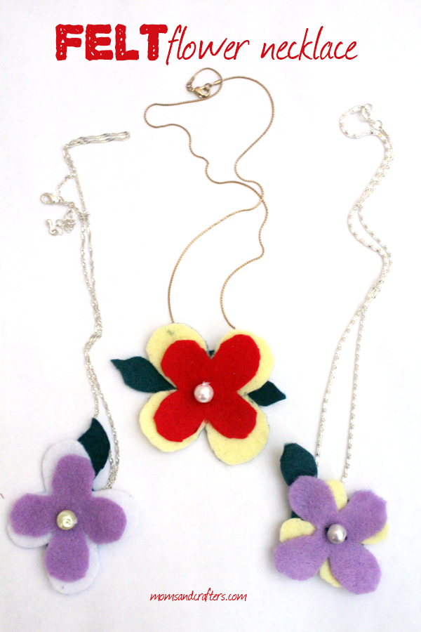 These DIY Felt Flower Necklaces make such a fun spring craft! They're a unique take on felt flowers mixed with basic jewelry making and sewing skills. A great mother's day gift too!