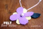 DIY Felt Flower Necklaces