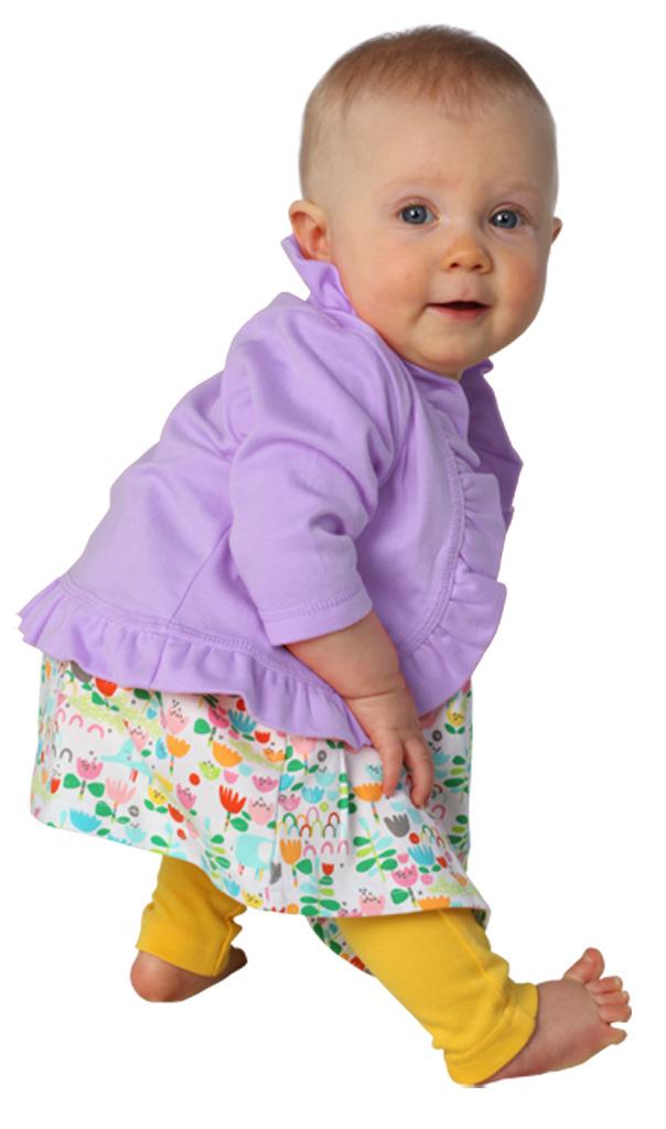 Hot Pink Baby Ruffle Cardigan