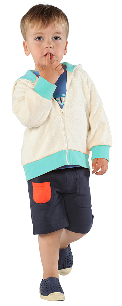 Cream Cozie Toddler Contrast Hoodie