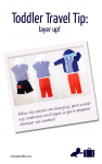 TODDLER TRAVEL TIP: Pack matching layers and coordinates so that you're ready whatever the weather. Click to read more.