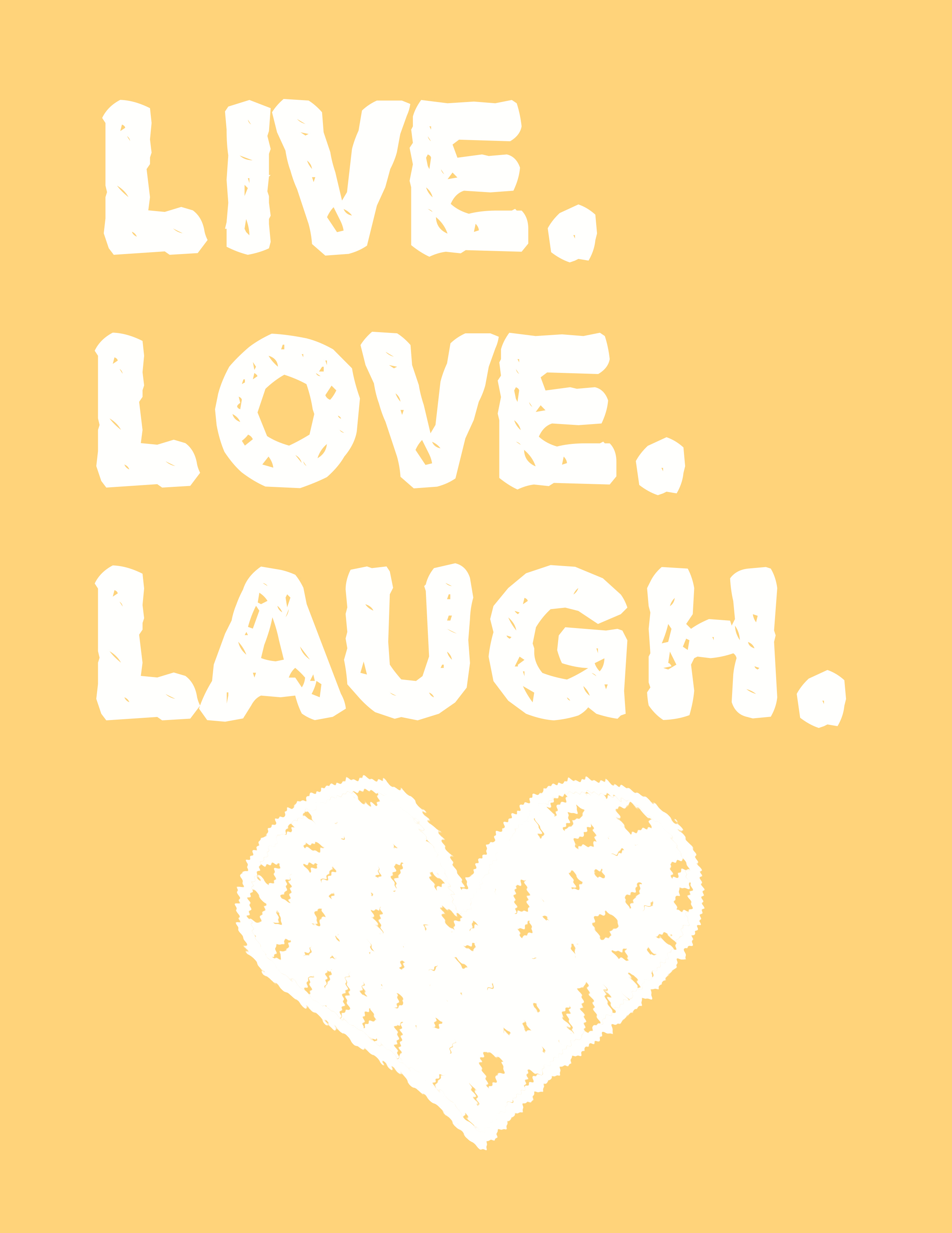 Live Love Laugh Wall Art - a free printable! - Moms and Crafters