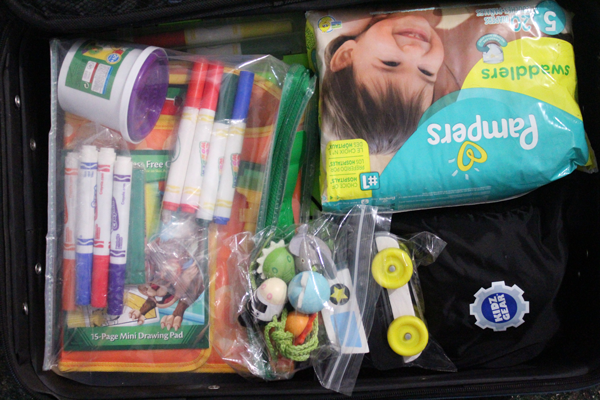 packing a toddler carry on