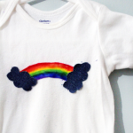 DIY Rainbow Onesie Baby Shower Gift Idea