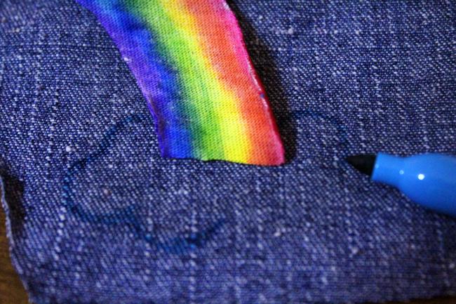 DIY Rainbow Onesie Baby Shower Gift Idea