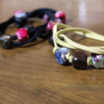 DIY Wrap Bracelet with Faux Gemstones