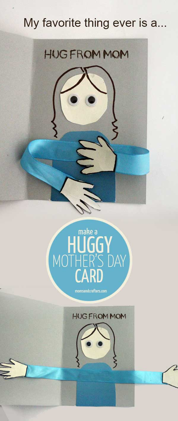 make a huggy mother u0027s day card craft moms and crafters