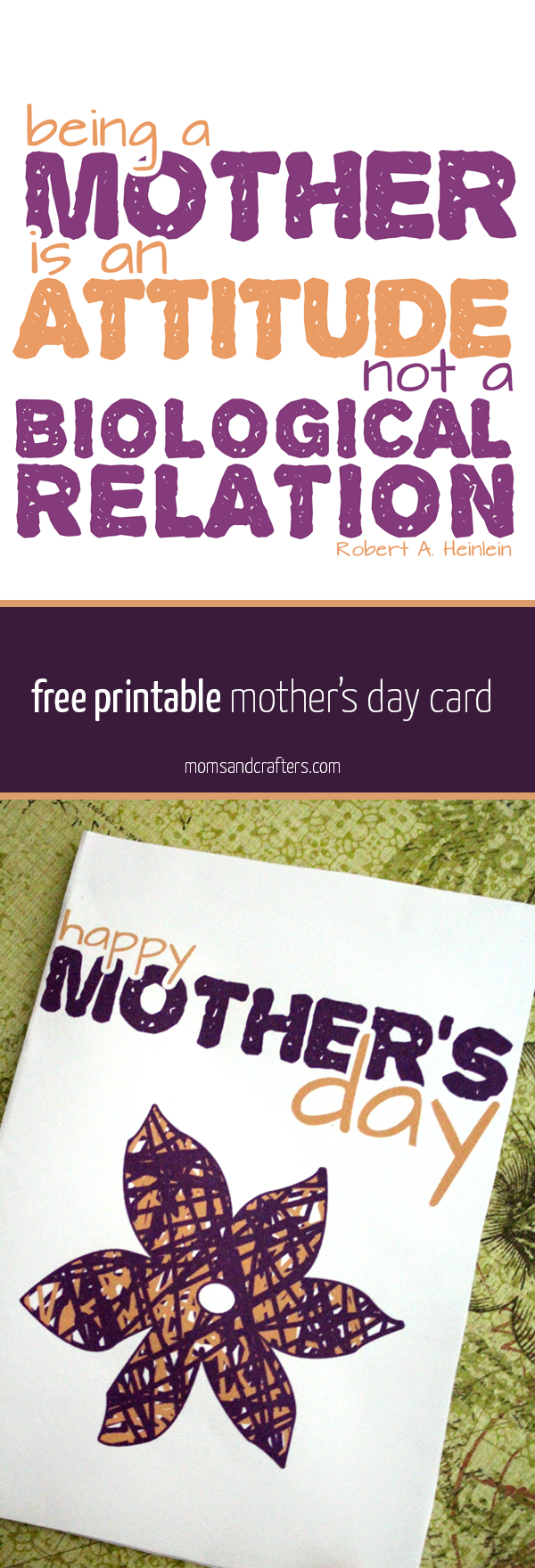 """Click on the link to get this free printable mother's day card that's designed special for mothers who may not be biologically related! It's also great to appreciate the """"beyond pregnancy"""" moments from your mother, whether biological or not..."""